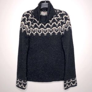 Hollister Co. Fair Isle Wool Blend Sweater Blue M